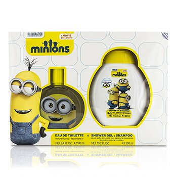 Air Val International Minions szett: Eau De Toilette Sspray 100ml/3.4oz + sampon és tusolózselé 300ml/10.2oz  2pcs
