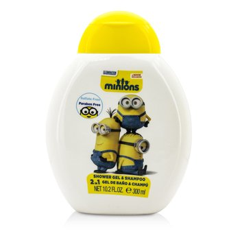 Air Val International Minions 2 In 1 Shower Gel & Shampoo  300ml/10.2oz
