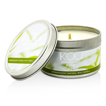 iKOU Eco-Luxury Aromaoology Φυσικό Κερί σε Βαζάκι - Calm  230g/8oz