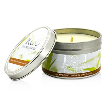 iKOU Eco-Luxury Aromacology Natural Wax Candle Tin - Nurture (Italian Orange Cardamom & Vanilla)  230g/8oz