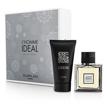 Guerlain L'Homme Ideal Coffret: |1x Eau De Toilette Spray 50ml/1.6oz |1x Gel de Ducha 75ml/2.5oz|Ideal tanto para uso personal como para regalo  2pcs