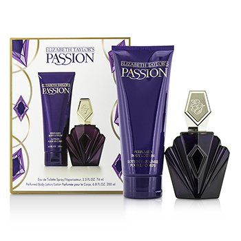 Elizabeth Taylor Passion Coffret: Eau De Toilette Spray 74ml/2.5oz + Loción Corporal 200ml/6.8oz  2pcs