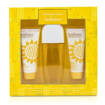 Elizabeth Arden Sunflowers Coffret: Eau De Toilette Spray 100ml/3.3oz + Loción Corporal 100ml/3.3oz +Limpiador Crema Hidratante 100ml/3.3oz  3pcs