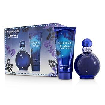Britney Spears Midnight Fantasy Coffret: Eau De Parfum Spray 100ml/3.3oz + Soufflé Corporal 100ml/3.3oz  2pcs