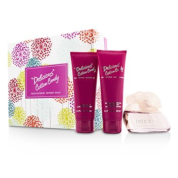 Gale Hayman Delicious Cotton Candy Coffret: Eau De Toilette Spray 100ml/3.3oz + Body Lotion 100ml/3.4oz + Shower Gel 100ml/3.4oz  3pcs