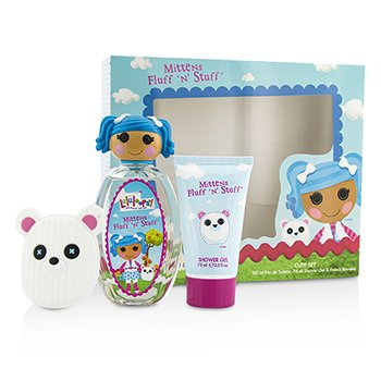 Lalaloopsy ชุด Mittens Fluff 'N' Stuff Cute Coffret: สเปรย์น้ำหอม EDT 100ml/3.4oz + เจลอาบน้ำ Shower Gel 75ml/2.5oz + French Barrette  3pcs