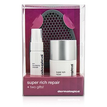 Dermalogica Super Rich Repair Limited Edition Set: Super Rich Repair 50ml + Skin Resurfacing Cleanser 30ml + Facial Cleansing Mitt  3pcs