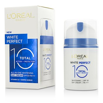 L'Oreal White Perfect Total 10 Crema Blanqueadora D�a SPF 30 ok  50ml/1.69oz