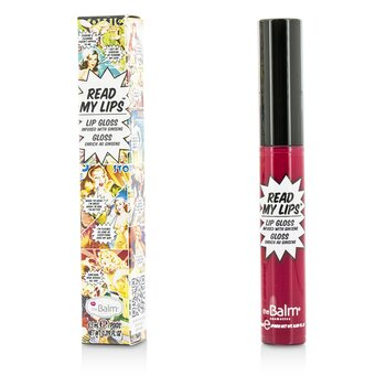 TheBalm ลิปกลอส Read My Lips (Lip Gloss Infused With Ginseng) - #Hubba Hubba!  6.5ml/0.219oz