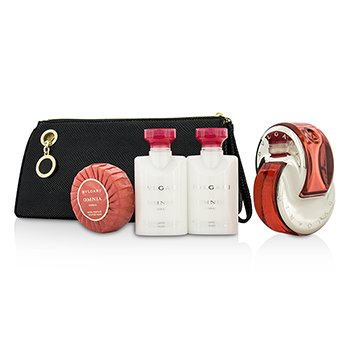Bvlgari Omnia Coral Coffret: Eau De Toilette Spray 65ml/2.2oz + 2x Body Lotion 40ml/1.35oz +Soap 50g/1.7oz + Pouch  4pcs+pouch