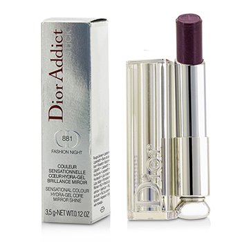 Christian Dior Dior Addict Hydra Gel Core Mirror Shine Lipstick - #881 Fashion Night  3.5g/0.12oz