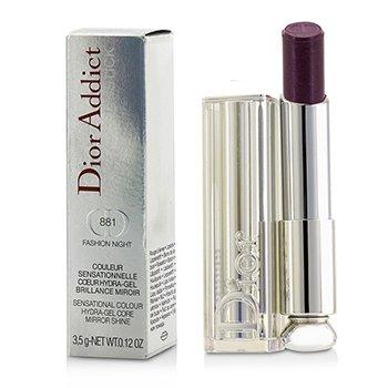 Christian Dior Dior Addict Hydra Gel Core Mirror Shine Color Labios - #881 Fashion Night  3.5g/0.12oz