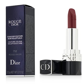Christian Dior Rouge Dior Couture Colour Cuidado Voluptuoso - # 752 Rouge Favori  3.5g/0.12oz
