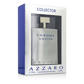 Azzaro Chrome United Eau De Toilette Spray (Edici�n de Colecci�n)  100ml/3.4oz
