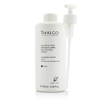 Thalgo Cleansing Water 2-in-1 - With Pump - Salon Size  500ml/16.9oz