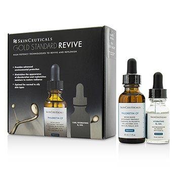 Skin Ceuticals Gold Standard Revive Set: Phloretin CF 30ml/1oz + Gel Hidratante B5 15ml/0.5oz  2pcs