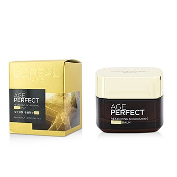 L'Oreal บาล์มกลางคืน Age Perfect Restoring Nourishing Night Balm  50ml/1.69oz