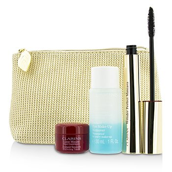 Clarins Colecci�n Perfect Eyes:  1x Wonder Perfect M�scara, 1x Instant Smooth Perfect Touch, 1x Demaquillante Ojos, 1x Bolsa  3pcs+1bag