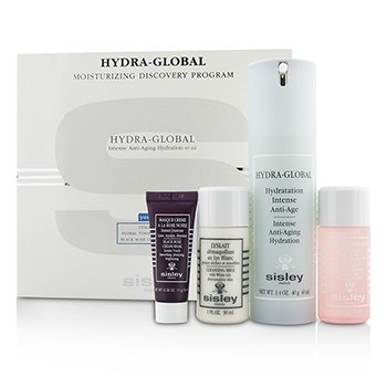 Sisley Hydra-Global Moisturizing Discovery Program: Hydration 40ml + Cleansing Milk 30ml + Toning Lotion 30ml + Cream Mask 11g  4pcs