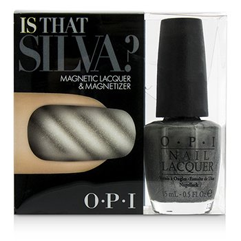O.P.I Magnetic Lacquers & Magnetizers - #Is That Silva?  -