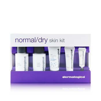 Dermalogica Normal/ Dry Skin Kit: Cleanser + Toner + Smoothing Cream + Exfoliant + Eye Reapir  5pcs