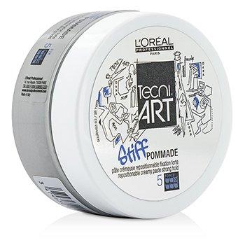 L'Oreal Professionnel Tecni.Art Stiff Pommade Repostionable Creamy Paste (Fijación Fuerte - Fuerza 5)  75ml/2.5oz