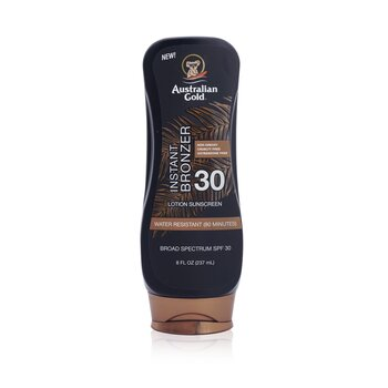 Australian Gold โลชั่นกันแดด Lotion Sunscreen Broad Spectrum SPF 30 with Instant Bronzer  237ml/8oz
