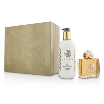 Amouage Dia Coffret: Eau De Parfum Spray 100ml/3.4oz + Loción Corporal 300ml/10oz  2pcs