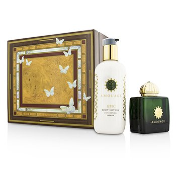 Amouage Epic Coffret: Eau De Parfum Spray 100ml/3.4oz + Loción Corporal 300ml/10oz  2pcs