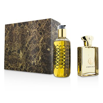 Amouage Gold Coffret: Eau De Parfum Spray 100ml/3.4oz + Gel de Ducha & Ba�o 300ml/10oz  2pcs