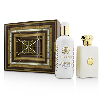 Amouage Honour Coffret: Eau De Parfum Spray 100ml/3.4oz + Gel de Ducha & Baño 300ml/10oz  2pcs