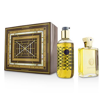 Amouage Jubilation XXV Coffret: Eau De Parfum Spray 100ml/3.4oz + Gel de Ducha & Ba�o 300ml/10oz  2pcs