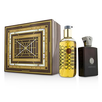 Amouage Lyric Coffret: Eau De Parfum Spray  100ml/3.4oz + Gel de Ducha & Baño 300ml/10oz  2pcs