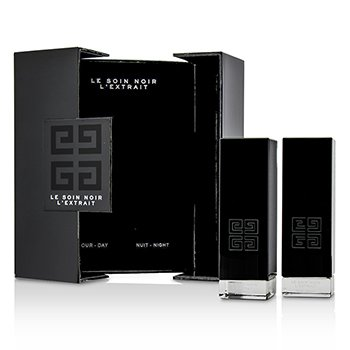 Givenchy Le Soin Noir L'Extrait: L'Extrait Day Serum 15ml/0.5oz + L'Extrait Night Serum 15ml/0.5oz  2pcs