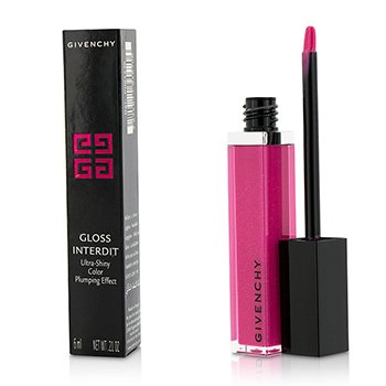 Givenchy Gloss Interdit Ultra Shiny Color Plumping Effect - # 36 Private Fuchsia  6ml/0.21oz