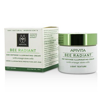 Apivita Bee Radiant Crema Iluminante Defensa de Edad - Textura Ligera  50ml/1.76oz