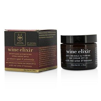 Apivita Wine Elixir Crema de Día Anti Arrugas & Reafirmante SPF 15 Con Vino Tinto & Cera de Abejas  50ml/1.76oz