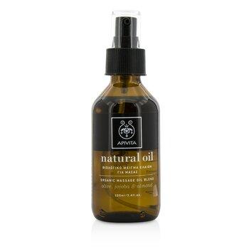 Apivita Natural Oil - Mezcla de Aceite Para Masaje de Aceitunas, Jojoba & Almendras Orgánicas  100ml/3.4oz