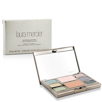 Laura Mercier Watercolour Mist Paleta Ojos & Mejillas (6x Color OJos, 2x Color Mejillas)  9.2g/0.31oz
