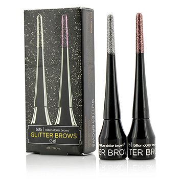 Billion Dollar Brows Glitter Brows Gel Set: 2x Glitter Brows Gel (Stardust, Pixie)  2x3ml/0.1oz