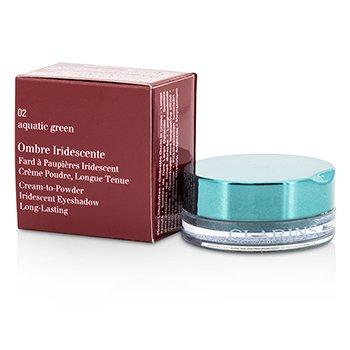 Clarins Ombre Iridescente Cream To Powder Iridescent Eyeshadow - #02 Aquatic Green  7g/0.2oz