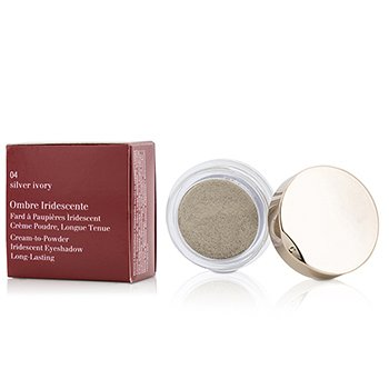 Clarins Ombre Iridescente Cream To Powder Iridescent Eyeshadow - #04 Silver Ivory  7g/0.2oz