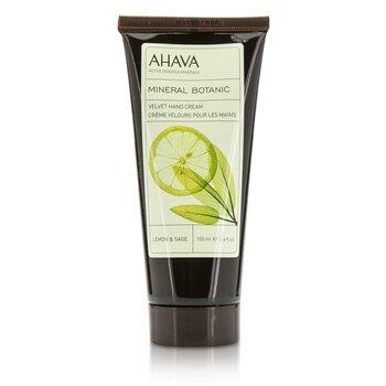 Ahava Mineral Botanic Crema de Manos Aterciopelada - Lemon & Sage  100ml/3.4oz