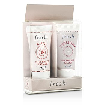 Fresh Prime & Glow Set: 1x Mini Rose Freshface Primer, 1x Mini Twilight Freshface Glow  2x5ml/0.17oz