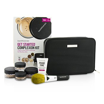 BareMinerals BareMinerals Get Started Complexion Kit For Flawless Skin - # Medium (Box Slightly Damaged)  6pcs+1clutch