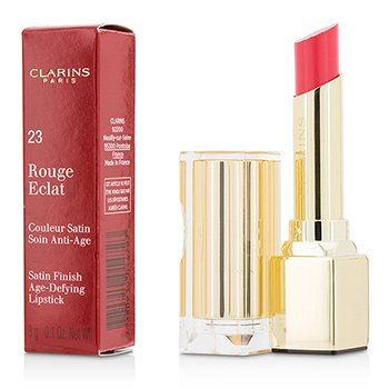 Clarins Pomadka do ust Rouge Eclat Satin Finish Age Defying Lipstick - # 23 Hot Rose  3g/0.1oz