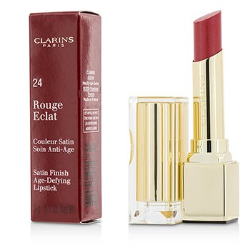 Clarins Pomadka do ust Rouge Eclat Satin Finish Age Defying Lipstick - # 24 Pink Cherry  3g/0.1oz
