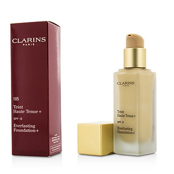 Clarins Everlasting Foundation+ SPF15 - # 105 Nude  30ml/1.1oz