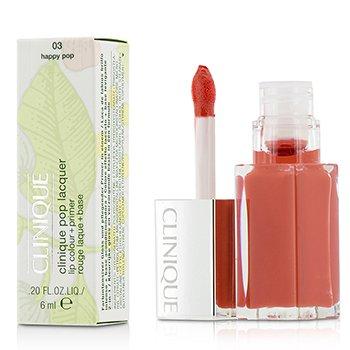 Clinique Płynna pomadka do ust Pop Lacquer Lip Colour + Primer  - # 03 Happy Pop  6ml/0.2oz