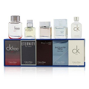 Calvin Klein Miniature Coffret : CK One + Eternity + Euphoria + CK Free Sport + Encounter Fresh  5pcs